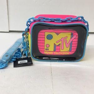 NWT MTV Clear Pouch 2PC Cross Body Bag